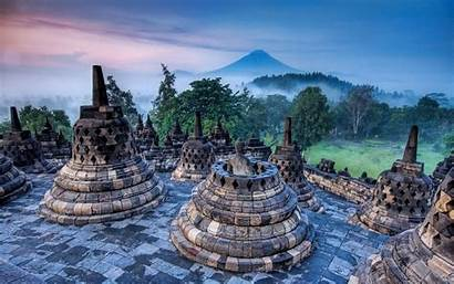 Indonesia Nature Landscape Temple Heritage Mountain Buddhism