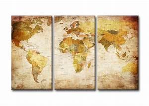 Bilder Zum Aufhängen : weltkarte bilder auf leinwand markenware visario fertig zum aufh ngen 1517 d2 ebay ~ Frokenaadalensverden.com Haus und Dekorationen