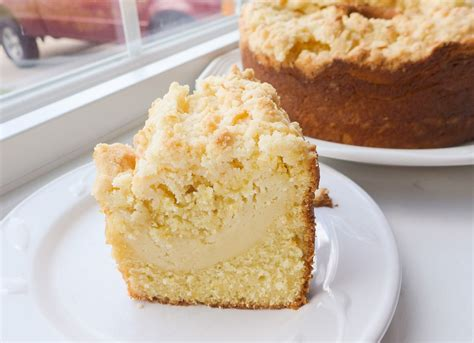 A moist coffee cake with a sweet cream cheese center and crunchy pecan topping is the perfect treat to serve at your next brunch. Dimples & Delights: Lemon Cream Cheese Coffee Cake