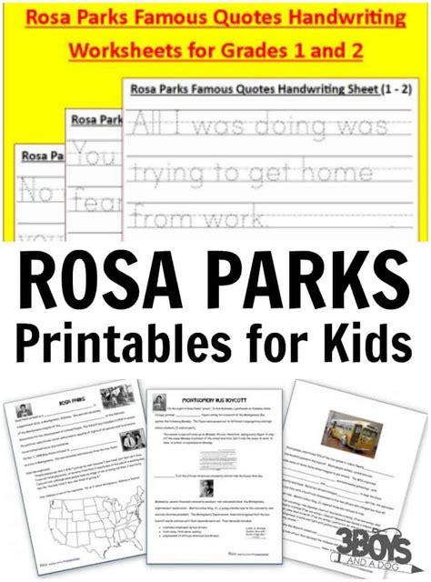 rosa parks printables  kids  boys   dog  boys
