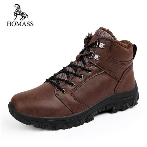 Homass Winter Warm Men Snow Boots Fashion Shoes