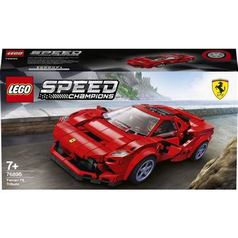 A spectacular toy playset featuring a brilliantly detailed ferrari f8 tributo. Lego Speed Champions Ferrari F8 Tributo 76895