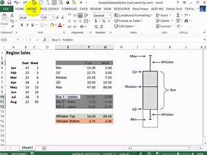 How To Draw Column Chart In Excel Create A Simple Box Plot Box And Whisker Chart In