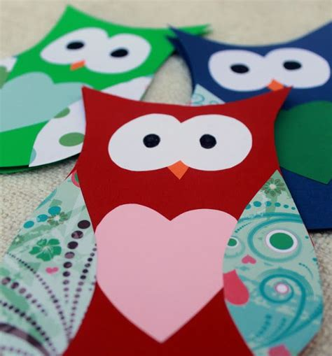 DIY Owl Card (with template) Renee Suzanne Cole Cool