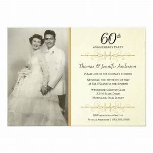 Elegant 60th wedding anniversary party invitations for Cheap 60th wedding anniversary invitations