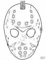 Jason Coloring Mask Pages Friday 13th Printable Halloween Masks Sheets Drawing Template Scary Tattoo Face Voorhees Drawings Supercoloring Colouring Crafts sketch template