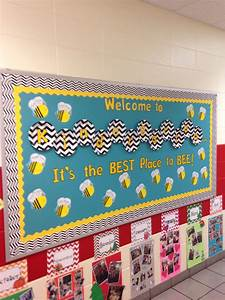 back to school kindergarten bee bulletin board chevron With paper letters for bulletin board