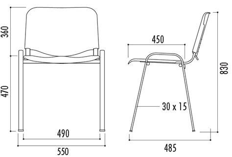 technique de la chaise chaise en polypropylène iso chaise empilable polypro