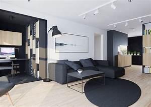Canape gris moderne 55 modeles dangle ou droits fonces for Tapis design avec canapé angle petite taille