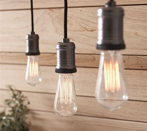 exposed bulb pendant track lighting pottery barn