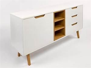Buffet Bas Blanc : buffet bas scandinave maison design ~ Teatrodelosmanantiales.com Idées de Décoration