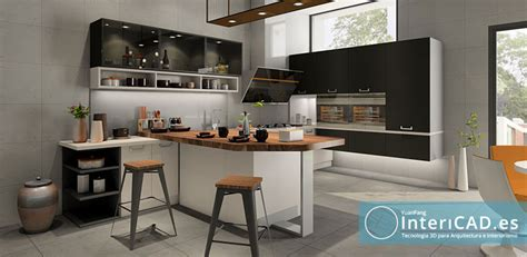 cocina moderna  realidad virtual  intericades