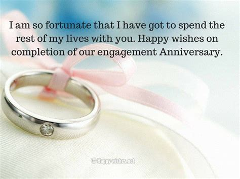 happy wishes  completion   engagement anniversary