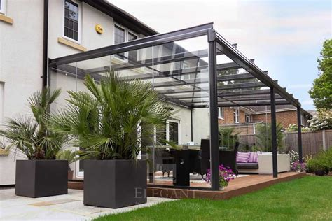 modern glass dining table with extension glass veranda in hshire with fixed glass sides