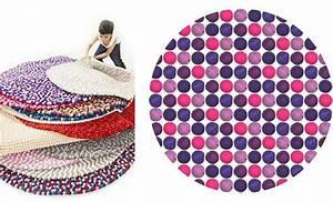 Runder Bunter Teppich : filzkugel teppich cool filz kugel teppiche filz teppich pom pom teppich bommel teppich teppich ~ Sanjose-hotels-ca.com Haus und Dekorationen