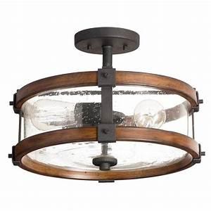 Kichler lighting barrington 1402 in semi flush mount for Semi flush mount lighting canada