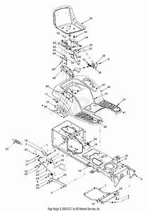 Mtd 13ar608p731  2004  Parts Diagram For Frame Components