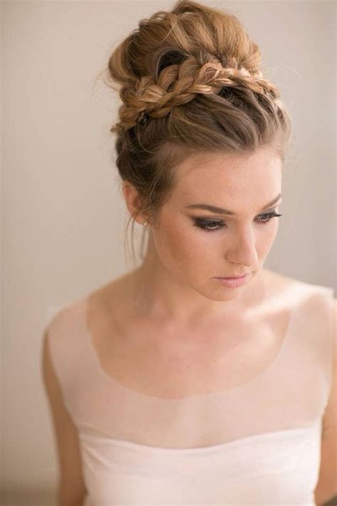 top knot bun wedding hairstyles   inspirewith
