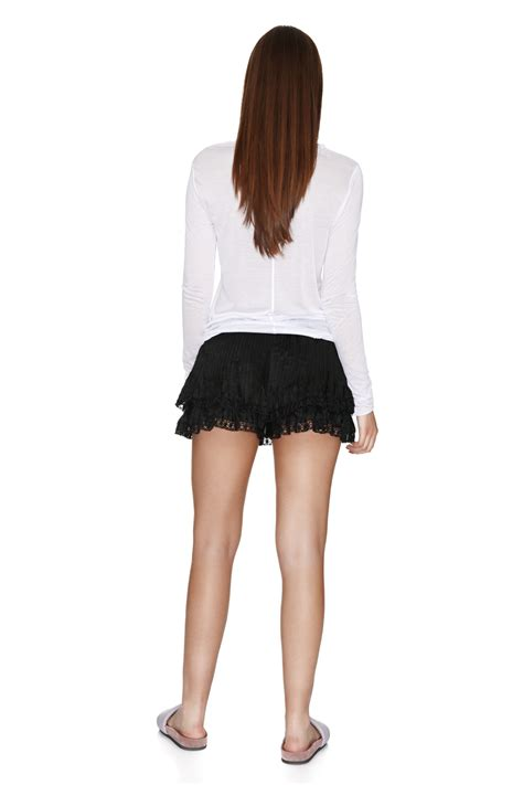Blouse Olla Jersy jersey white blouse pnk casual
