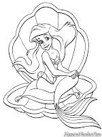mewarnai gambar barbie   mermaid tale mewarnai gambar