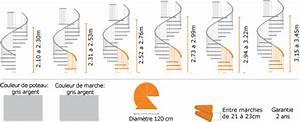 Escalier gain de place en métal Ø 1 20m