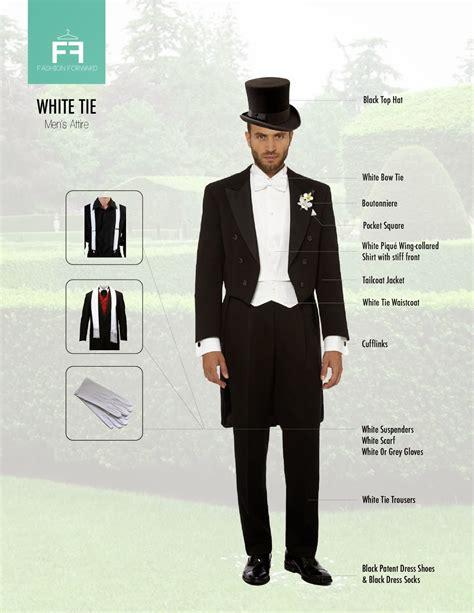 fashion  dress code male attire white tie