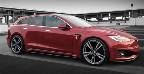 Tesla Model S News by Ares Announces Its Own Tesla Model S Shooting Brake Conversion