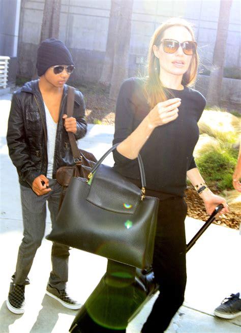angelina jolie debuts  brand  louis vuitton capucines bag purseblog