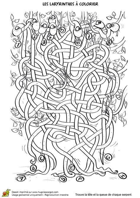 jeu cuisine fille coloriage labyrinthe des serpents sur hugolescargot com