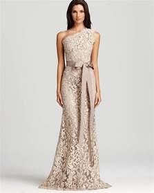 bloomingdales bridesmaid tadashi shoji lace gown one shoulder bloomingdale 39 s