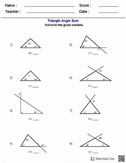 Triangle Geometry Angle Triangles Worksheet Math Worksheets