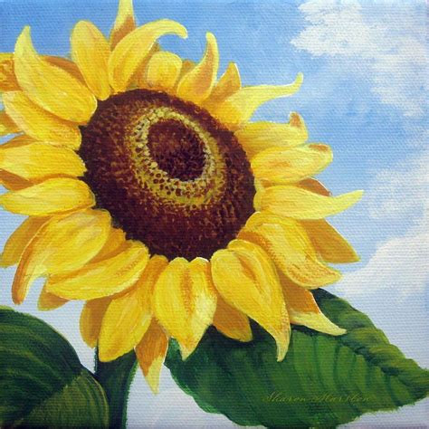 Large Sunflower Paintings For Sale Sunflower Canvas