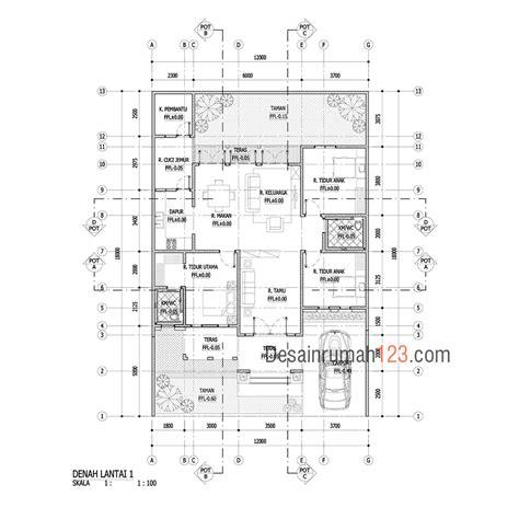 desain rumah     gaya tropis satu lantai desain