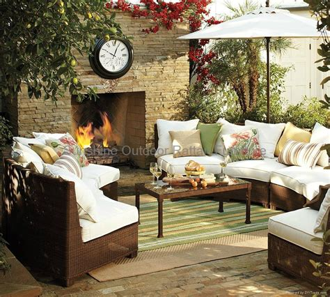 Semi Circle Outdoor Patio Furniture by Semi Circle Sectional Resin Wicker Sofa Fco 2083