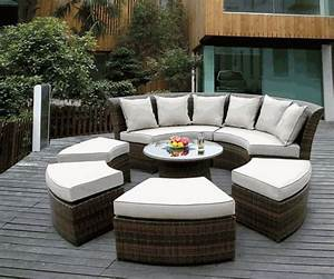 Ohana outdoor patio wicker furniture garden outdoor for Ohana outdoor sectional sofa