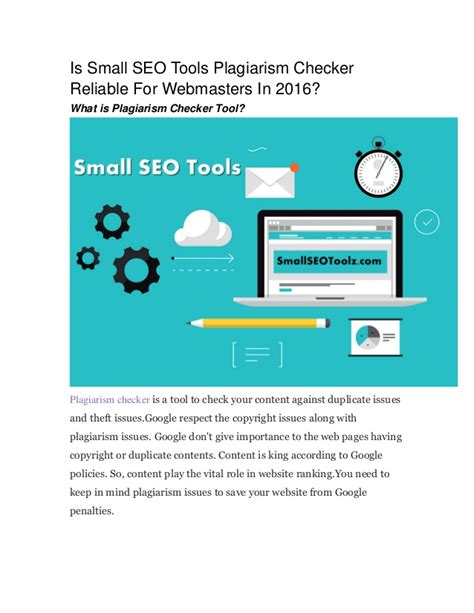 Seo Optimisation Tools by Is Small Seo Tools Plagiarism Checker Reliable For