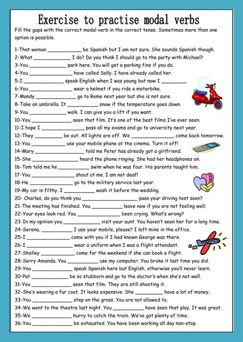 exercises modal verbs pdf with answers kidz activities