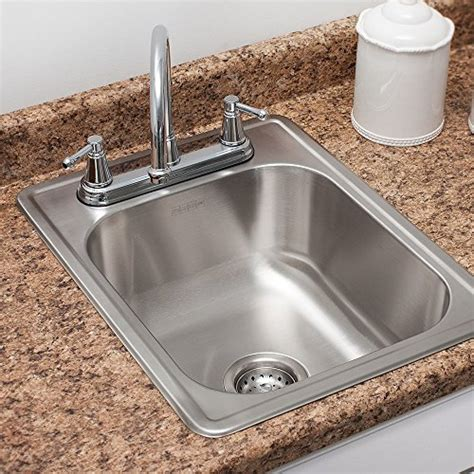 stainless steel deep bowl service sinks kindred fsb1722bx 8 quot deep stainless steel single bowl top