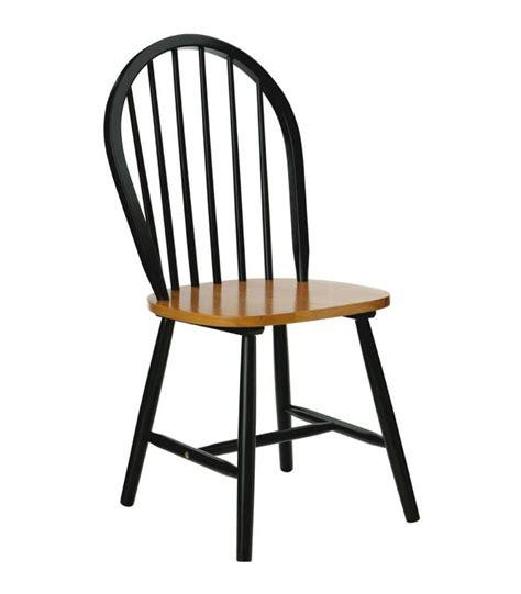 chaise noir et bois chaise à barreaux en bois noir mat et placage chêne