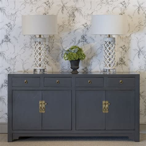 Grey Sideboard by Gunmetal Grey Sideboard Grey Lacquer Cabinet Orchid