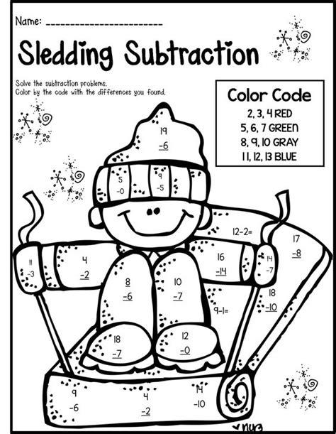 winter math literacy print and go 2nd grade ccss