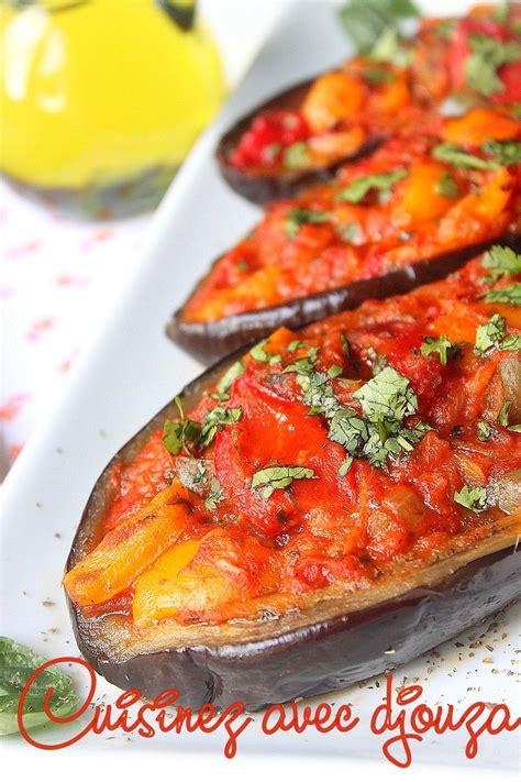 aubergines farcies au  aux poivrons la cuisine de