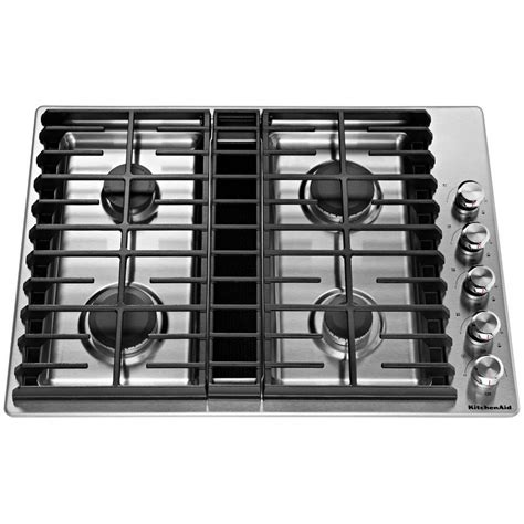 drop in electric ranges with downdraft kcgd500gss kitchenaid 30 quot gas downdraft cooktop stainless