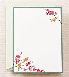 letterpress stationery seasonal stationery cherry blossoms