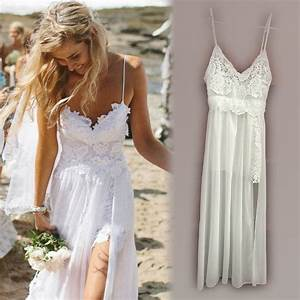 Womens summer dresses 2015 white lace maxi dress long for Beach wedding party dresses