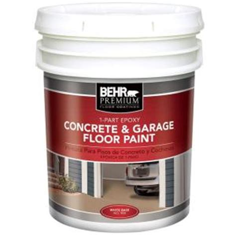 behr premium 5 gal white 1 part epoxy acrylic concrete