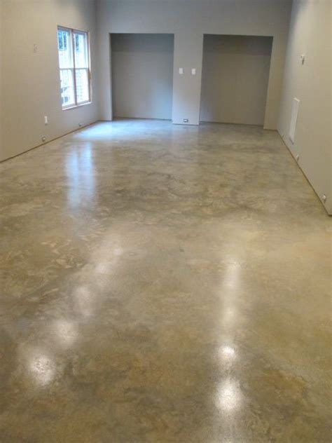 Natural concrete floor sanded and sealed with Euclid