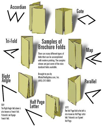 Ways to Fold a Brochure