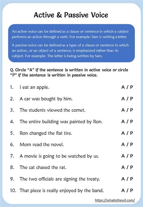 active  passive voice worksheet  home teacher