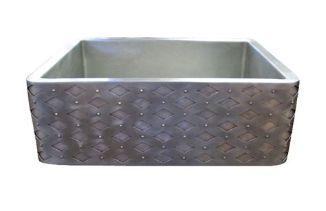 hammered stainless steel apron front sink custom sinks made to order texas lightsmith